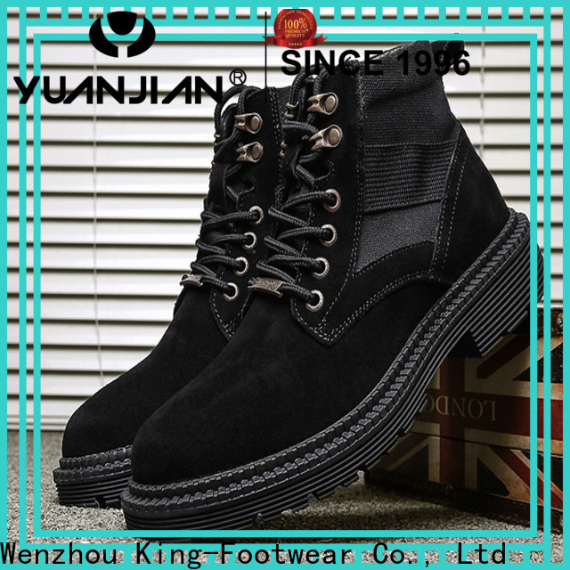 King-Footwear black tennis shoes factory price for outdoor