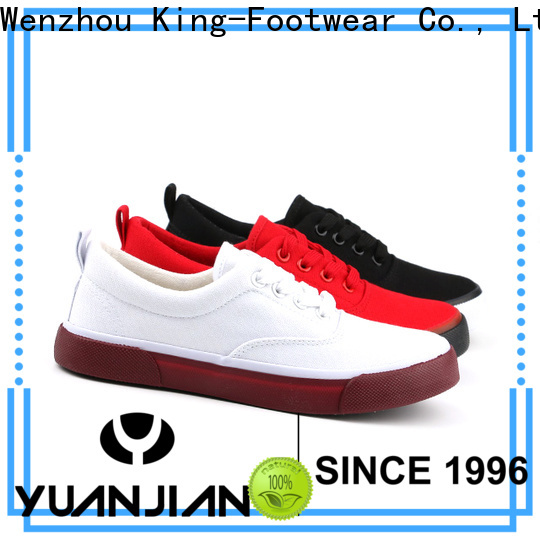 King-Footwear womens canvas shoes lace up sneakers promotion for daily life