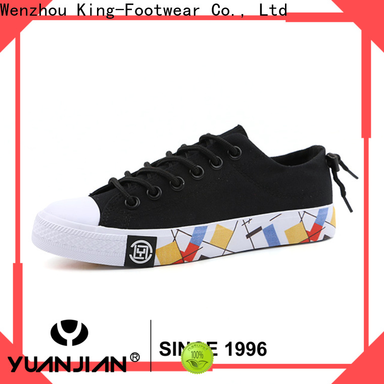 King-Footwear hot sell printed canvas shoes wholesale for travel