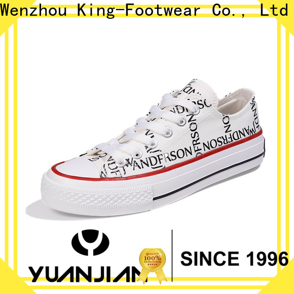 hot sell womens canvas shoes lace up sneakers wholesale for school