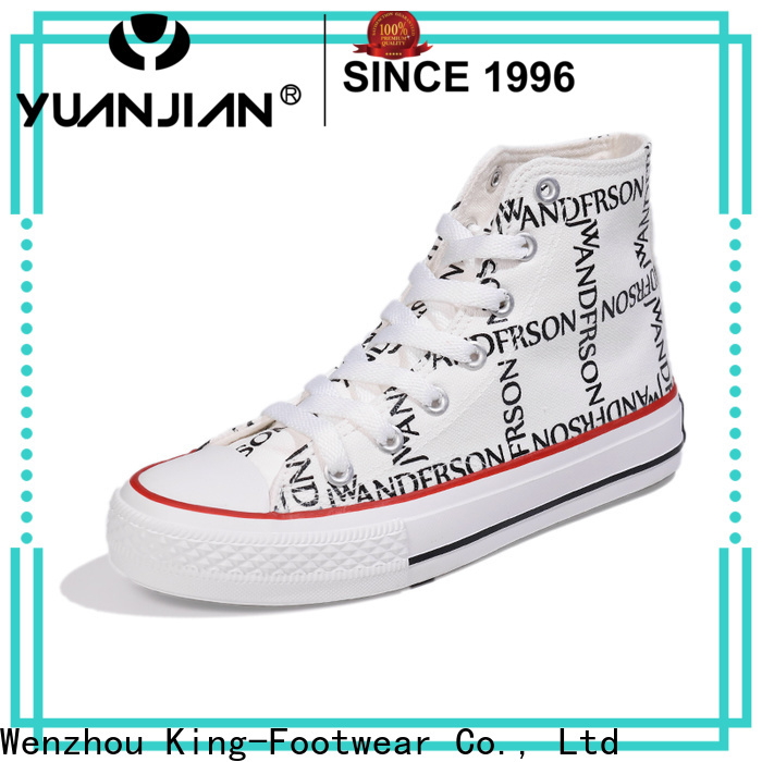 King-Footwear hot sell black canvas shoes manufacturer for daily life