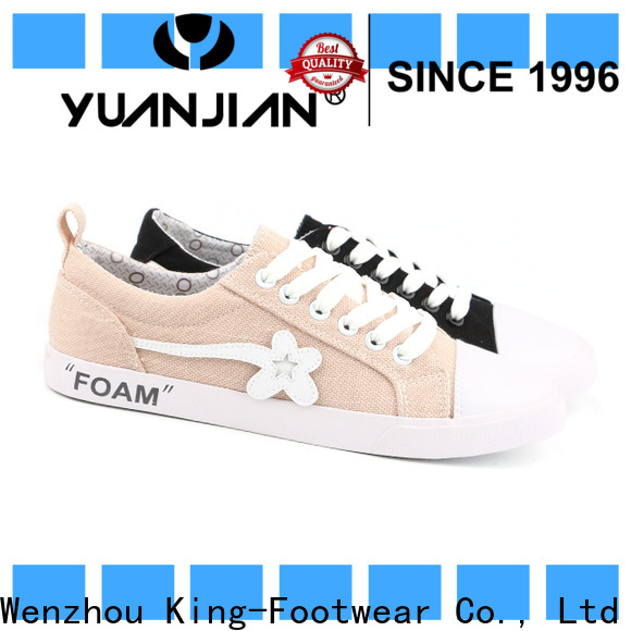 King-Footwear breathable canvas sneakers shoes supplier for men