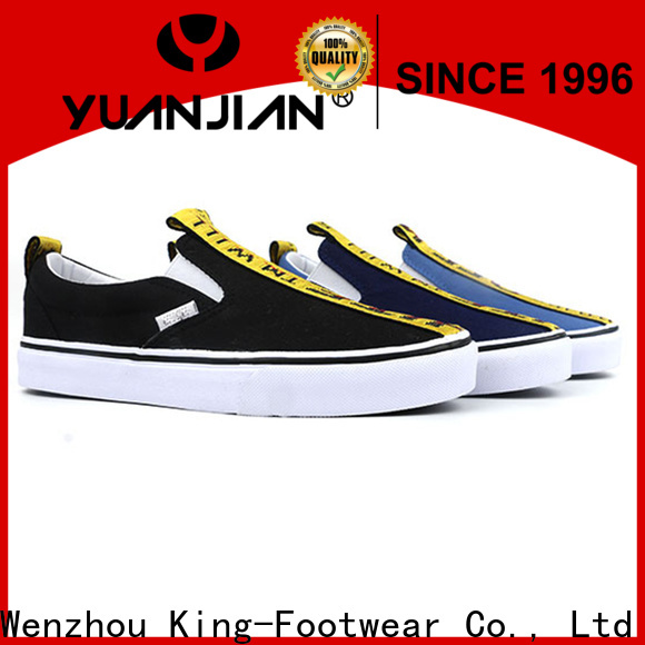 King-Footwear durable mens casual canvas shoes manufacturer for travel