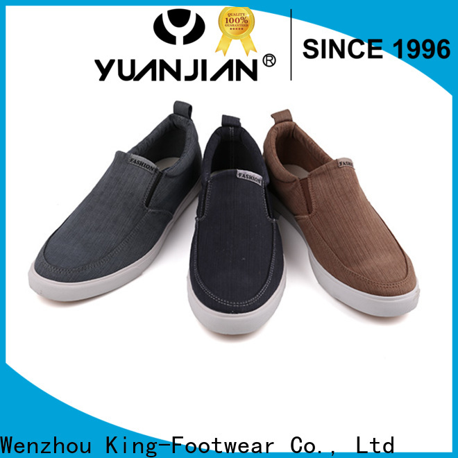 King-Footwear casual canvas shoes womens factory price for working