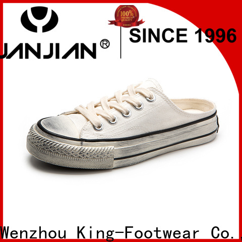 King-Footwear beautiful canvas slip on shoes wholesale for daily life