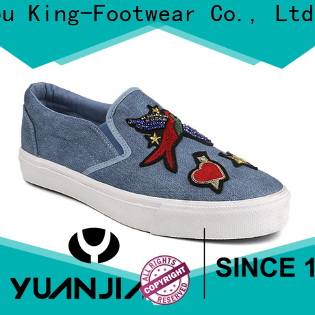 King-Footwear beautiful canvas slip on shoes promotion for daily life