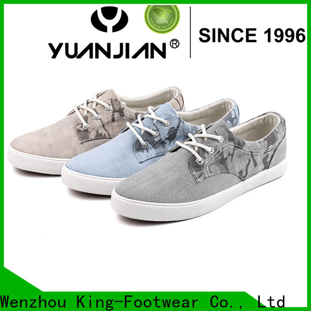 King-Footwear canvas lace up shoes for womens manufacturer for school