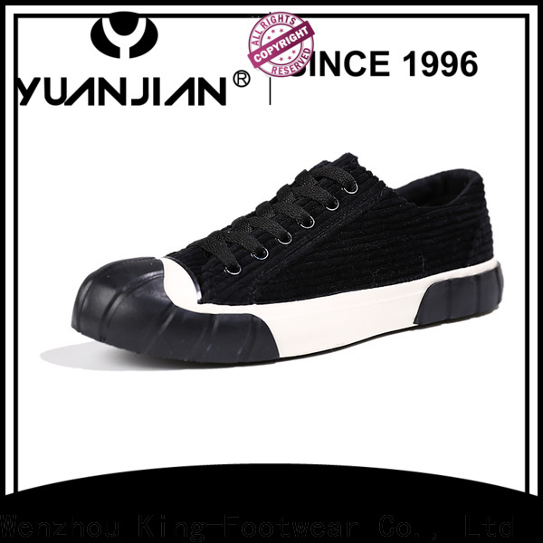 King-Footwear black casual sneakers supplier for women