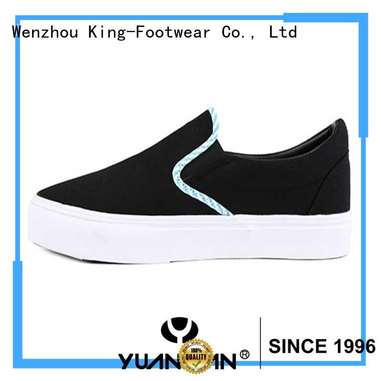 Blue piping no-lace boy skate shoes