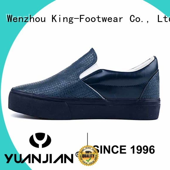 PU leather slip on man skate shoes