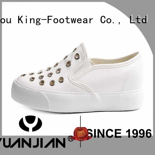 Ring PU leather girl's sneakers