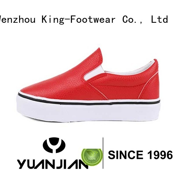 Pure Pu leather slip on lady skate sneakers
