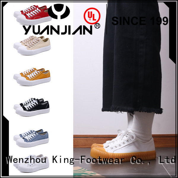 King-Footwear good quality mens canvas slip on shoes wholesale for school