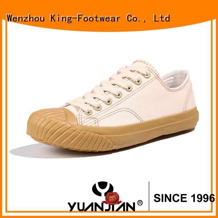 King-Footwear beautiful red canvas shoes factory price for daily life