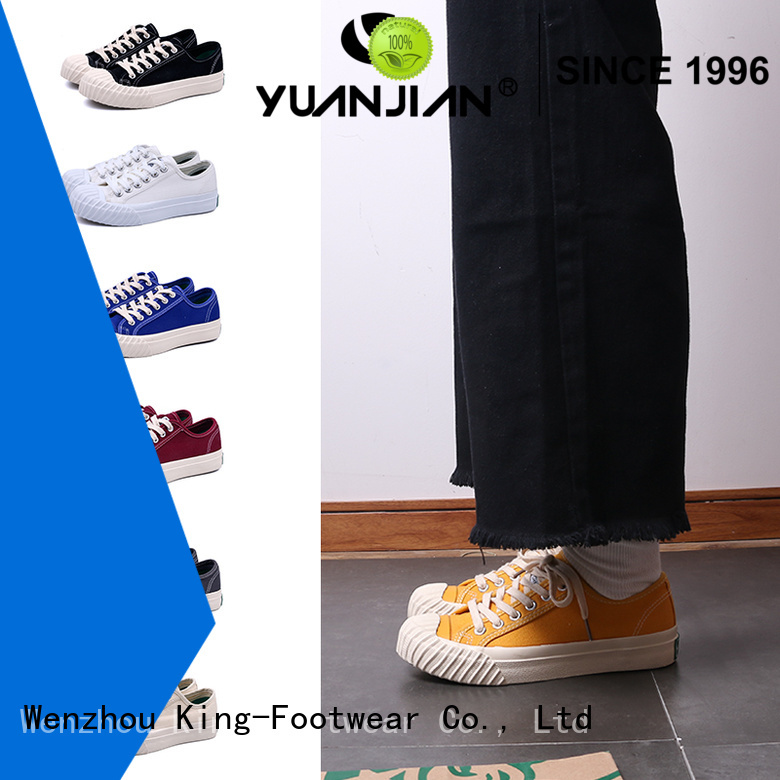 King-Footwear custom canvas shoes promotion for school