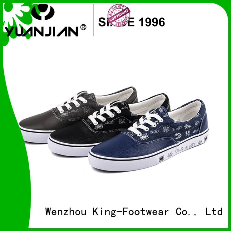 King-Footwear good quality mens canvas shoes cheap promotion for travel