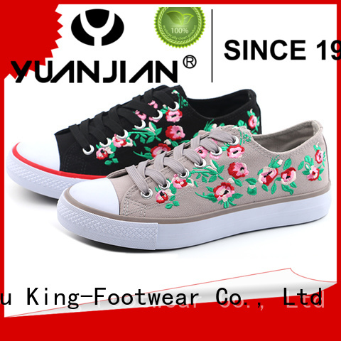 King-Footwear good quality jeans canvas shoes factory price for school