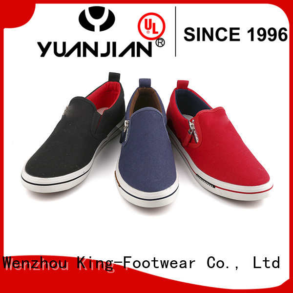 hot sell canvas slip on shoes womens manufacturer for working