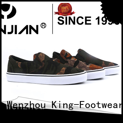 King-Footwear beautiful black canvas shoes manufacturer for school