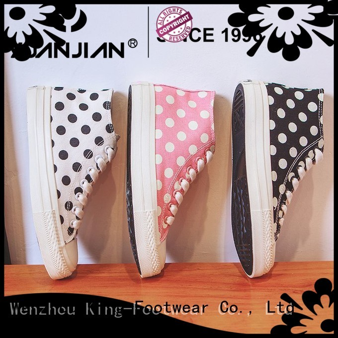 King-Footwear leather canvas shoes wholesale for working