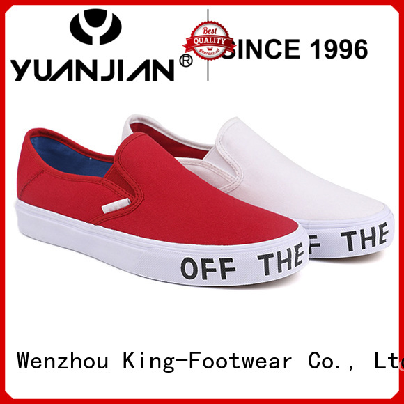 King-Footwear good quality canvas slip on shoes promotion for working