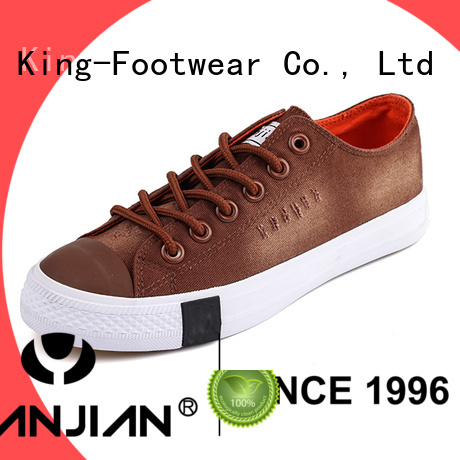 King-Footwear canvas shoes for girls factory price for daily life