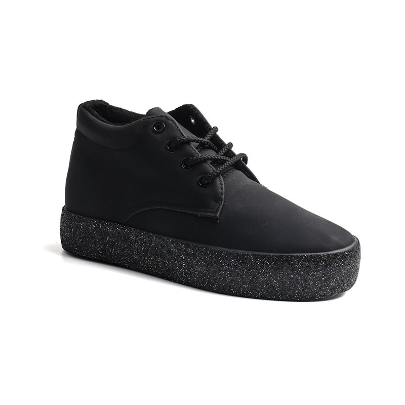Glitter sole low boot ladies sneakers