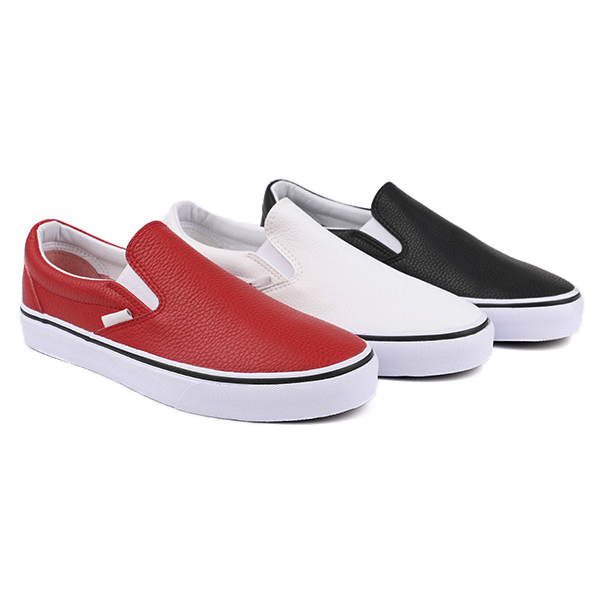 Vulcanized slip on woman skate shoes