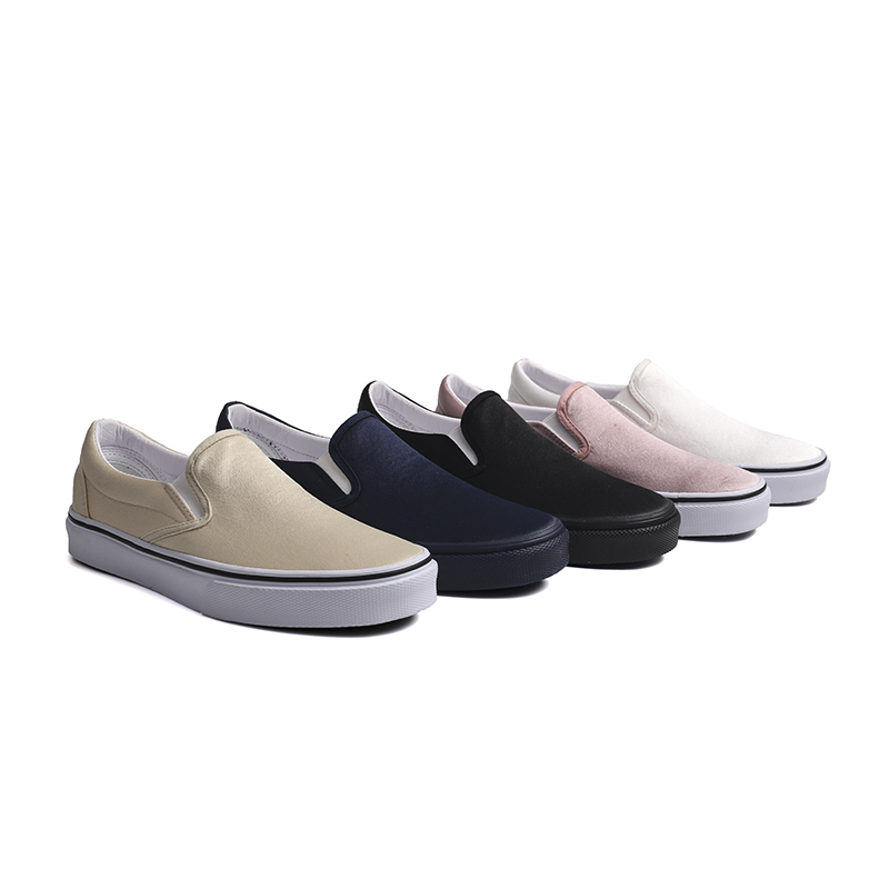 Satin slip on woman skate shoes