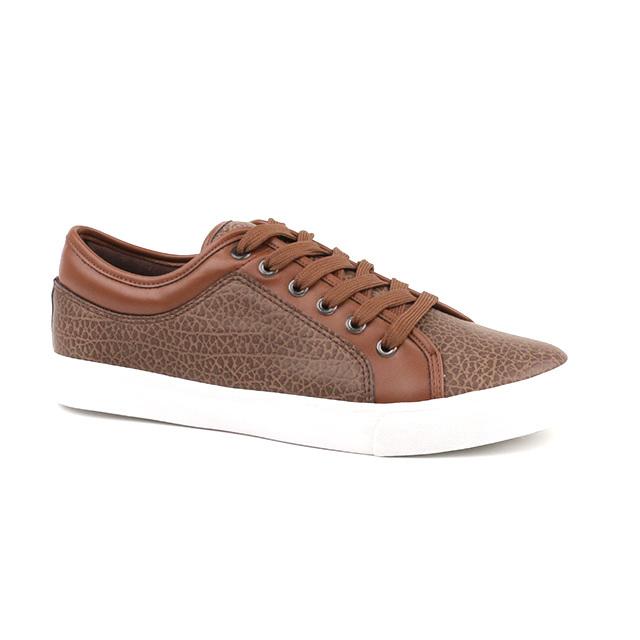 Comfortable lace up men's vulcanized shoes
