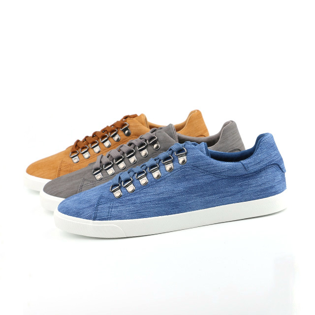 PU leather lace up men's vulcanized shoes