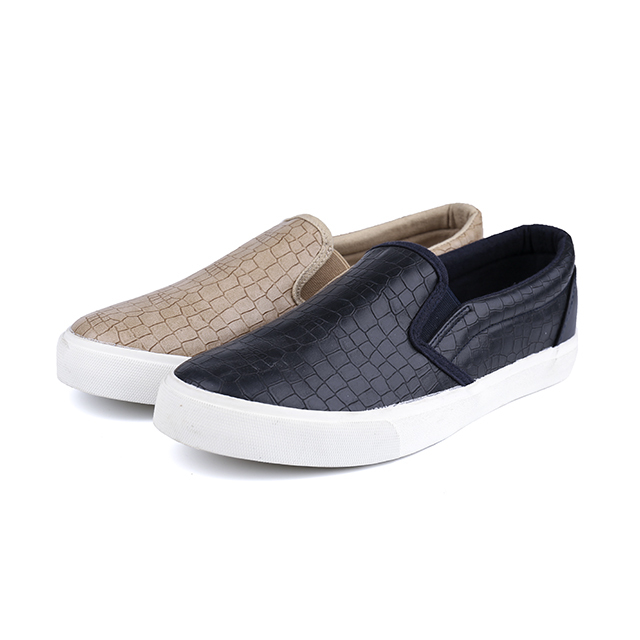 PU leather low cut man's slacker shoes