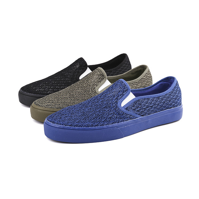 Linen slip-on men's skate shoes
