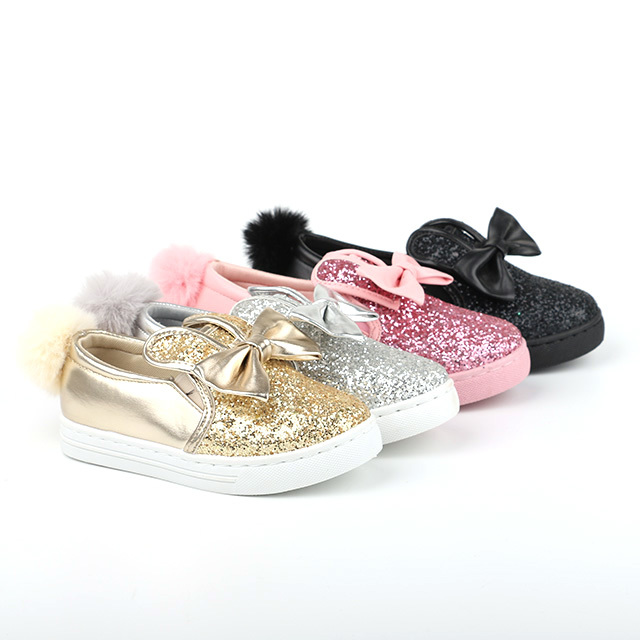 Glitter no lace child loafers