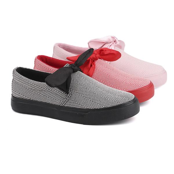 Linen slip on woman's sneakers