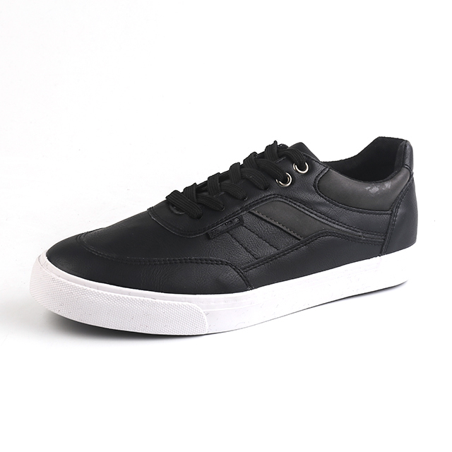 Fashion lace up men's vulcanized shoes