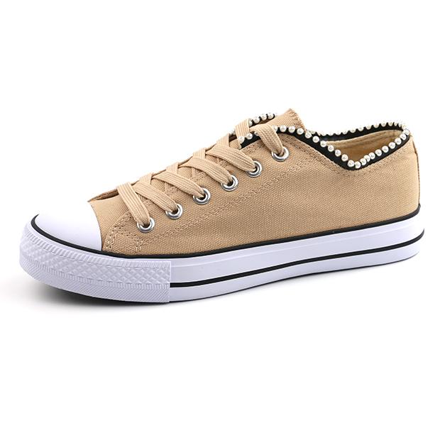 Plain lace up unisex basic shoes