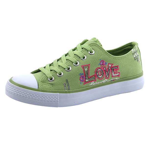 Fashion lace up unisex basic shoes