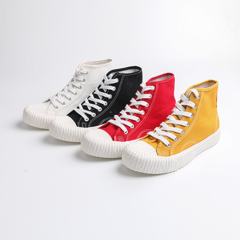 Cozy high top women's canvas shoes