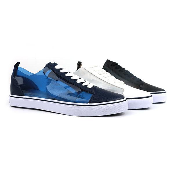 PVC upper lace up men skate shoes