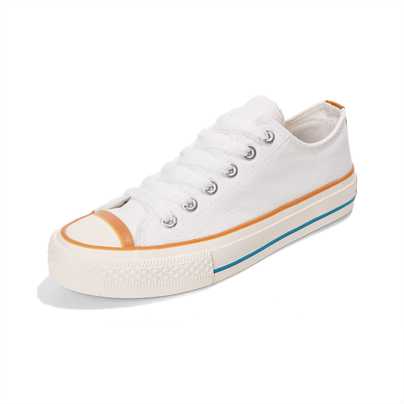 Generous lace up women's canvas shoes