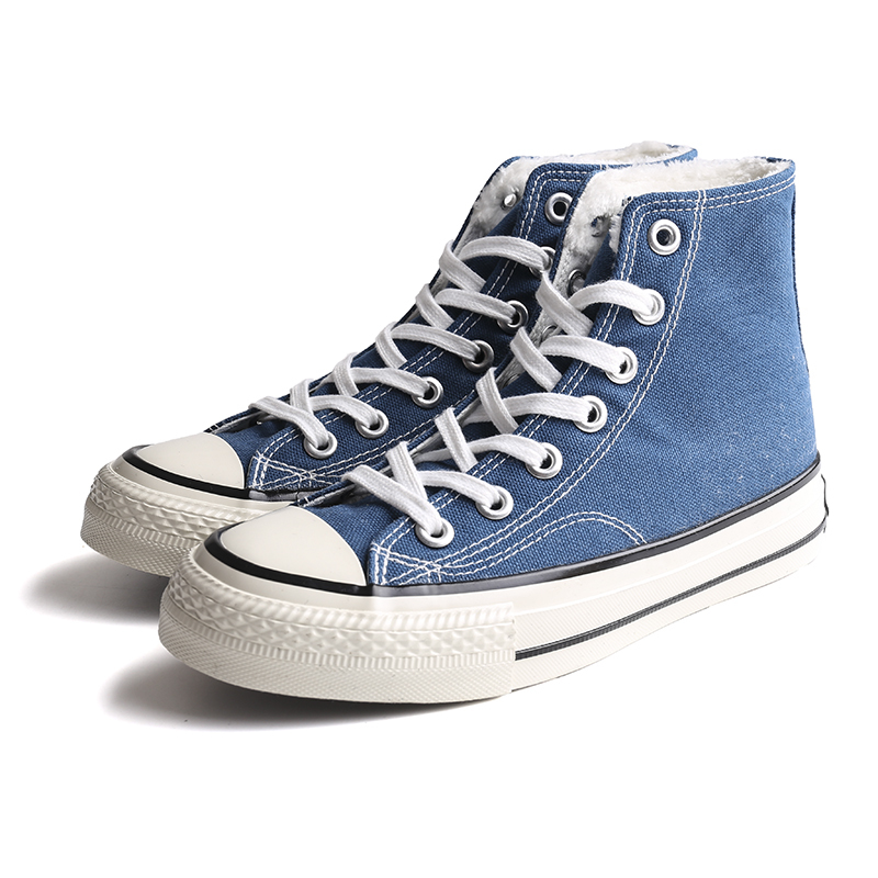 High end high top women's canvas shoes