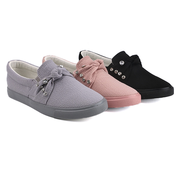 Stylish slip on woman's sneakers