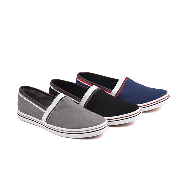 Canvas slip on man tennis shoes