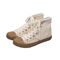 Classy high top women's canvas shoes