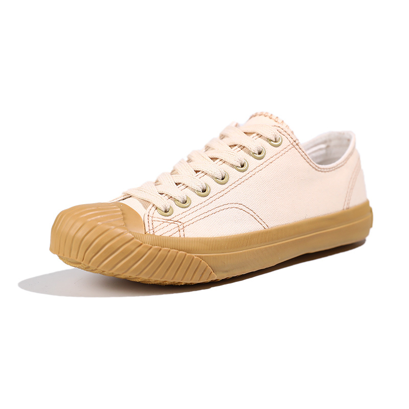 Fabric lace up women's canvas shoes