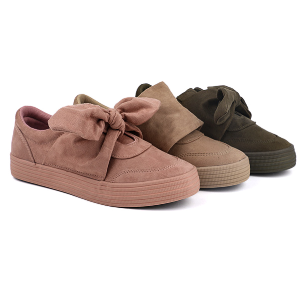 Imitation suede slip on woman's sneakers