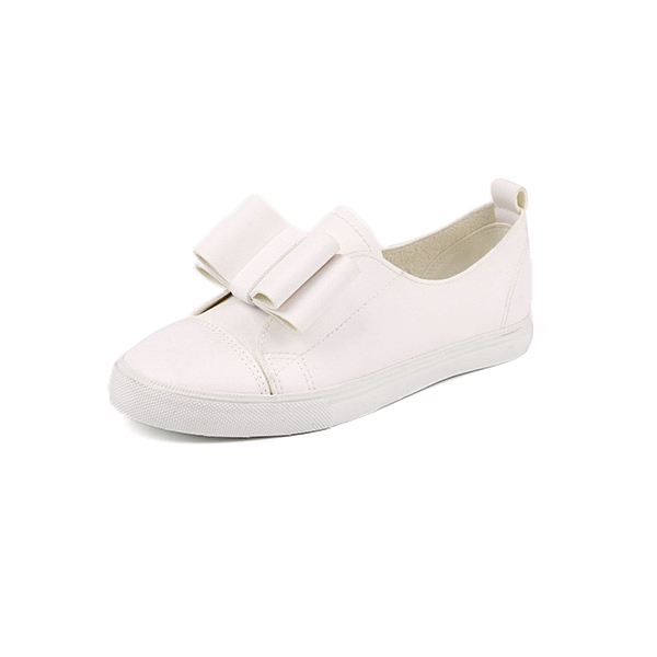 Imitation leather slip on woman's sneakers