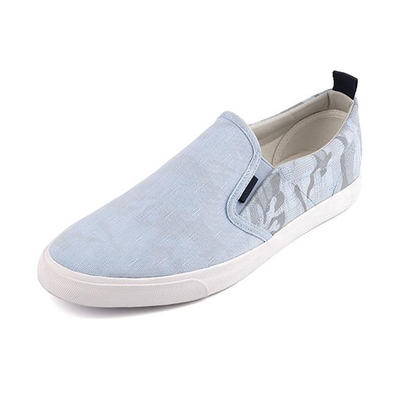Pattern low cut man's slacker shoes