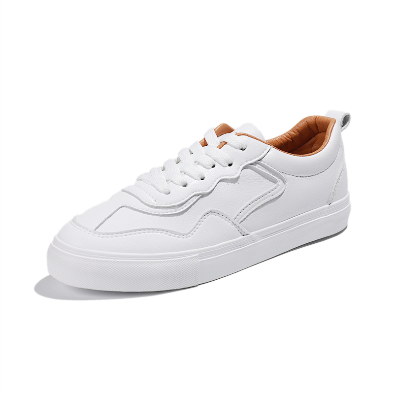 PU leather low cut lady fashion sneaker